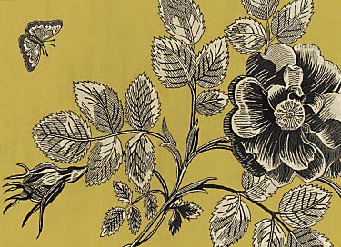 Sanderson Etchings and Roses Rugs, Citron, W120 x L180cm, £318