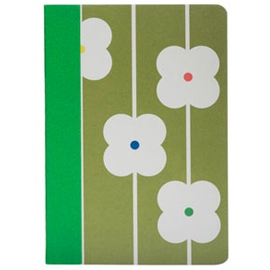 Orla Kiely Flower Abacus ruled notebook, Heals.co.uk