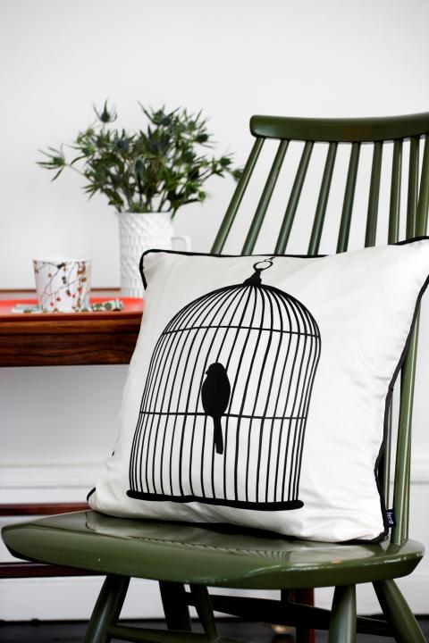 Bird cage cushion, £62, Rose and Grey