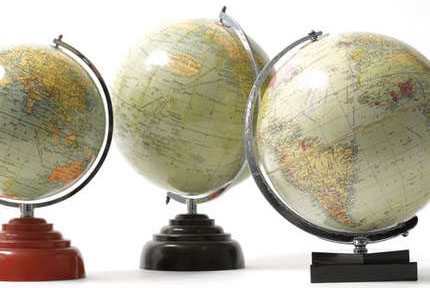 Antique globes, from £69 each, Pedlars