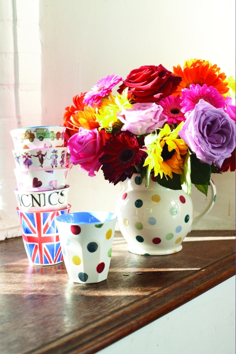Beakers, £3.50, and Polka Dot 1.5 Pint Jug, £29.95 - Emma Bridgewater