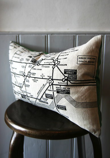 London underground map cushion, £39.95, Rockett St George