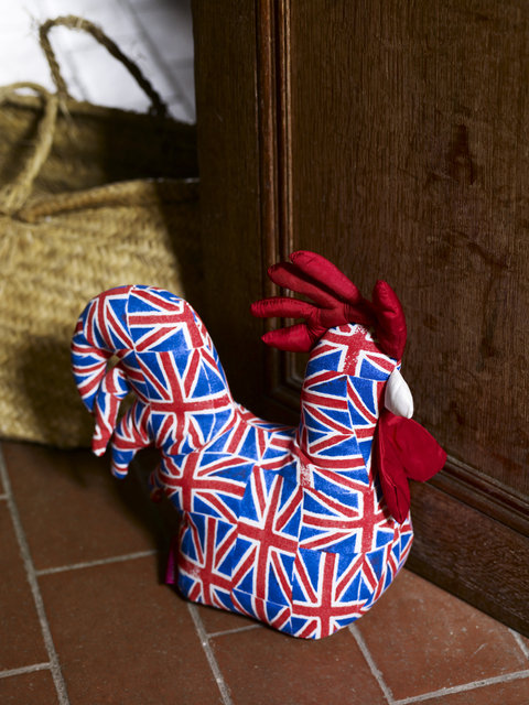 Union Jack Chicken Door Stop_ _
