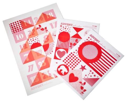 Lollipop Designs, Christmas, advent calendar, poster, craft, stationary, ideal home, homeshoppingspy
