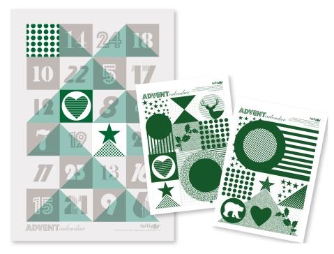 advent calendar, Christmas advent calendar, lollipop designs, stationary, ideal home, homeshoppingspy