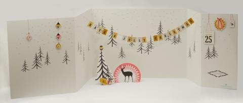 Lucy Jane Batchelor, Advent calendar scene, Christmas, advent calendar, craft, devon, ideal home, homeshoppingspy