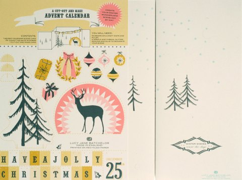 Advent calendar scene, Lucy Jane Batchelor, Christmas, Devon, staionary, alternative stationary, craft, ideal home, homeshoppingspy