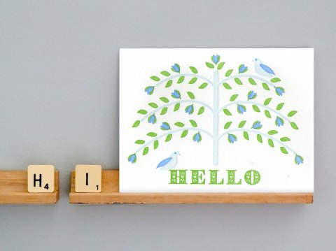 Letter press hello card | present and correct | bespoke stationery | unusual stationery | homeshoppingspy | alice humphrys