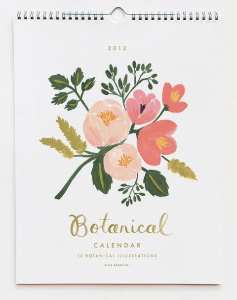 rifle paper, 2012 calendar, papermash, stationary, ideal home, homeshoppingspy