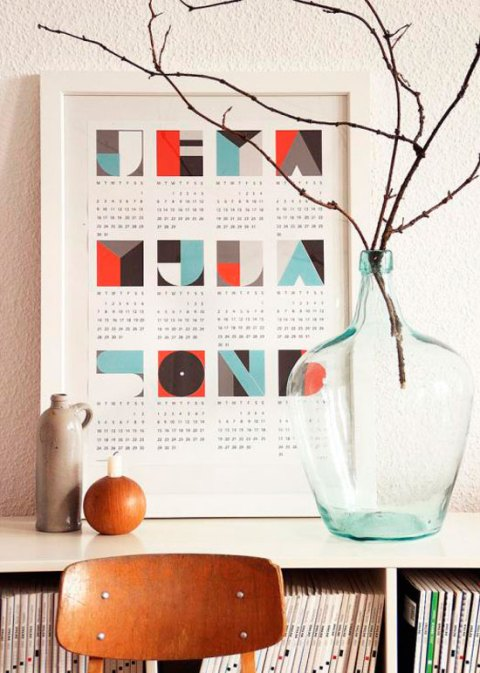 Wall planner, Snug Design, 2012, stationary, German designers, graphics, ideal home, homeshoppingspy, alice humphrys
