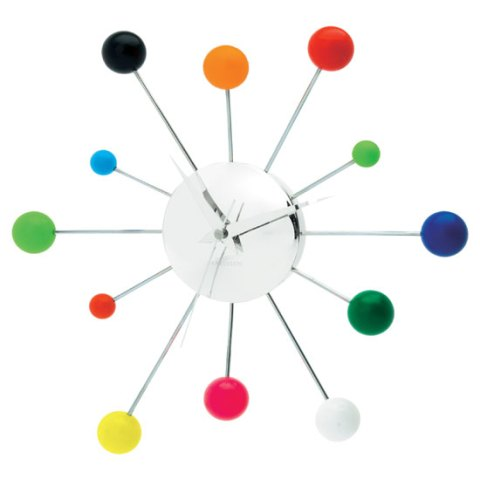 Karlsson mixed spider clock, Tesco, clock, contemporary design, ideal home, homeshoppingspy, alice humphrys