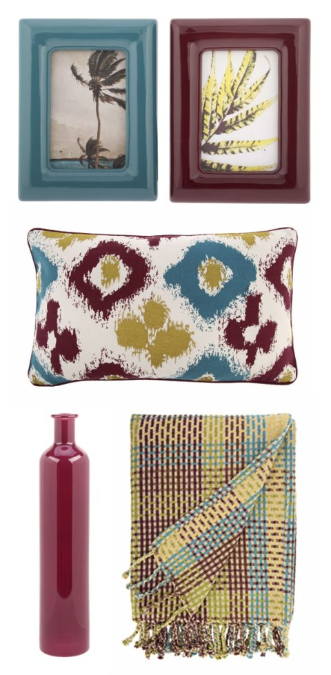Tesco, spring summer preview, frames, picture frames, cushions, ikat, throw, vase, ideal home, homeshoppingspy, alice humphrys