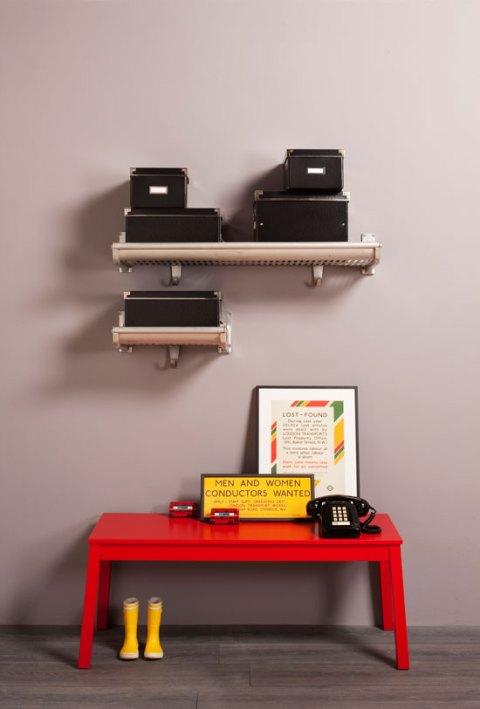 London Transport Museum luggage racks, vintage, reclaimed, metropolitan line, storage, ideal home, alice humphrys, homeshoppingspy