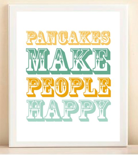 Pancake day, etsy, prints, stationary, poster, lemon, yellow, cooking, graphics, retro, design, colour, ideal home, homeshoppingspy, alice humphrys