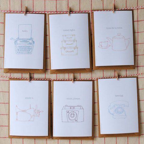 The Green Gables, eco friendly cards, illustrations, vintage, stationery, homeshoppingspy, ideal home, alice humphrys
