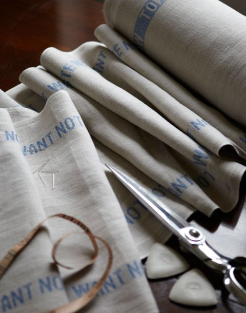 Table runner, RE, waste not want not, linen, kitchen linen, table linen, Ideal Home, homeshoppingspy, alice humphrys