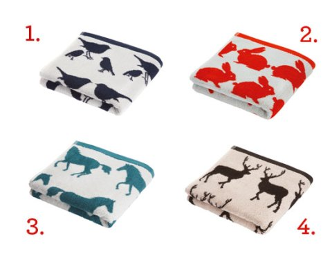 rak, anorak towels, new, Spring Summer, towels, prints, stags, robins, deer, horses, Laurie Roberston, ideal home, homeshoppingspy, alice humphrys