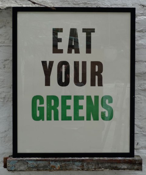 Clerk Ink Well, Eat Your Greens, stationery, letterpress, letterpress print, poster, ideal home, homeshoppingspy, alice humphrys